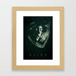 Alien: Isolation - Minimalist Poster Framed Art Print