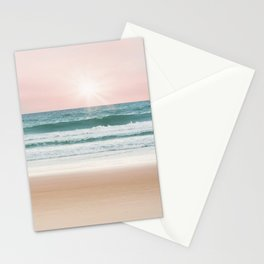 Pastel Beach and Sea Vibes Stationery Cards