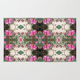 pink roses in motion, pink ombre Rug