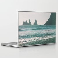 iceland Laptop & iPad Skins featuring Vík, Iceland by Chelle Wootten