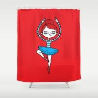 ballerina Shower Curtains featuring Ballerina by Viva la!