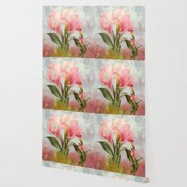 Pink Calla Lily Garden Wallpaper