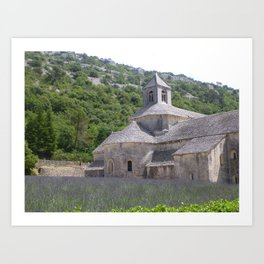 Lavender at the Abbey Art Print