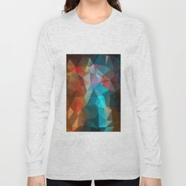 Abstract bright background of triangles polygon print illustration Long Sleeve T-shirt