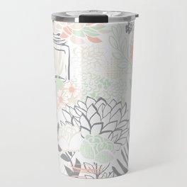 Cucumber Peaches and Cream Mason Jar wedding Travel Mug