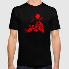 Red Dawn Black MEDIUM Mens Fitted Tee