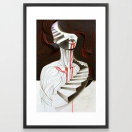 Red Breathing Framed Art Print