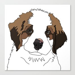 Sully the sweet Saint Bernese Canvas Print