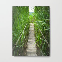 Wood Bridge to No Where Metal Print