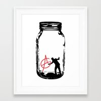 anarchy Framed Art Prints featuring Anarchy  by jamieskinner