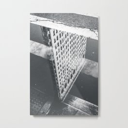 Flat Iron Building - NYC Reflection Metal Print