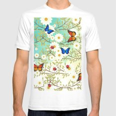 Tiny creatures White Mens Fitted Tee MEDIUM