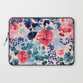 Watercolour Floral Botanical Leaves Laptop Sleeve