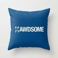 audi Throw Pillows featuring AWDSOME v5 HQvector by Vehicle