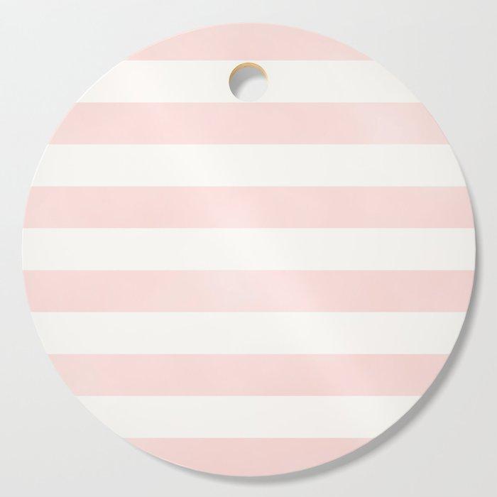 Pink Coral Stripes Cutting Board