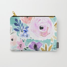 Willow Floral Carry-All Pouch