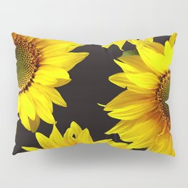 Large Sunflowers on a black background #decor #society6 #buyart Pillow Sham