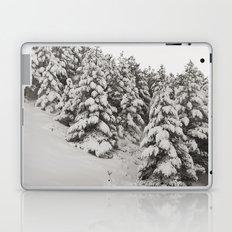 Snowy trees. Retro Laptop & iPad Skin