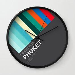Colors of Phuket Wall Clock