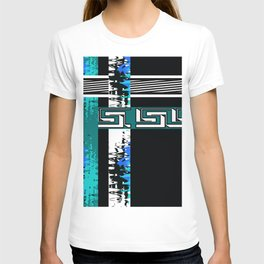Vintage .Art . Intertwining colored bands . Retro . T-shirt