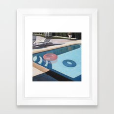Pink Pool Inner Tube Framed Art Print