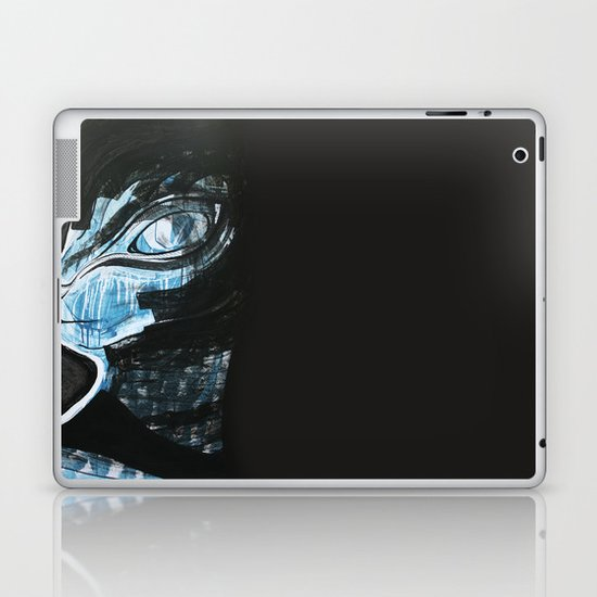 Cat Blue Laptop & iPad Skin