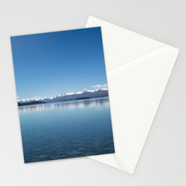 Blue line landscape Stationery Cards