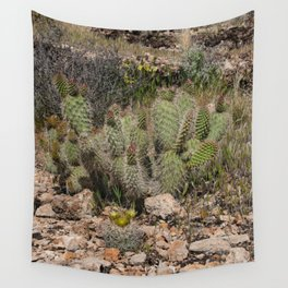 Budding Cactus Wall Tapestry