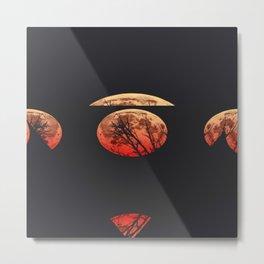 moon red Metal Print