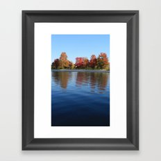 Autumn Reflections in the Rideau Canal Framed Art Print