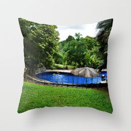 Pool days in the Rain Forest Throw Pillow