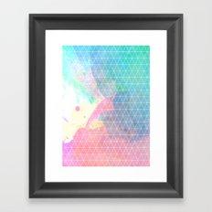 Geometric Shadows Framed Art Print