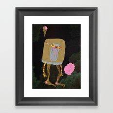 Silence Walks Framed Art Print