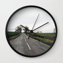 Winter british landscape Wall Clock