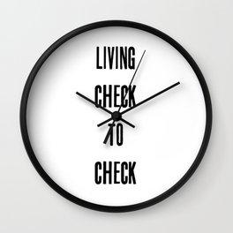 Check to Check Wall Clock