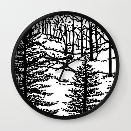 Silence in the Forest Wall Clock