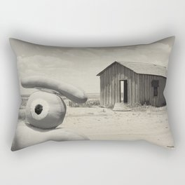 abandoned dust house with ojolo Rectangular Pillow