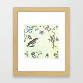 Nature is a temple Framed Art Print