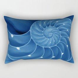 Malibu Blu Mood - Chambered Nautilus  Rectangular Pillow