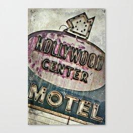 Grunge Hollywood Motel Sign Canvas Print