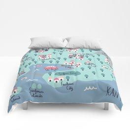 Kanto Map Comforters