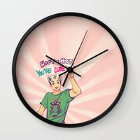 haikyuu Wall Clocks featuring Hoot hoot you're cute! by viria