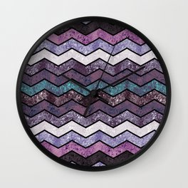 Glitter Waves IV Wall Clock