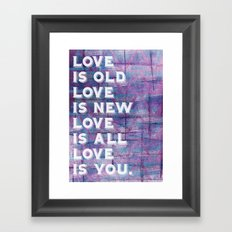 Because Framed Art Print