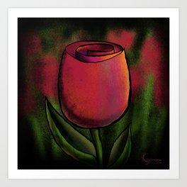 Lovers on the Tulip Art Print