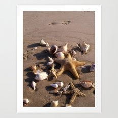 Romantic Beach Art Print