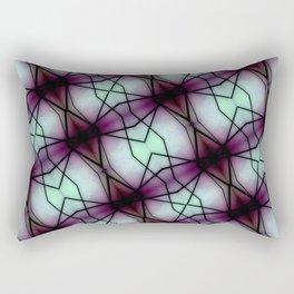 Futuristic Space Geometric Pattern Rectangular Pillow