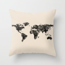 a painted world.  Throw Pillow
