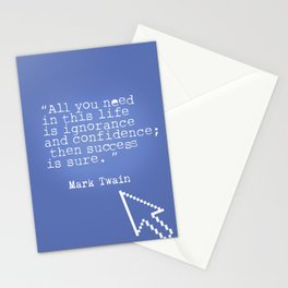 Mark Twain quote 5 Stationery Cards
