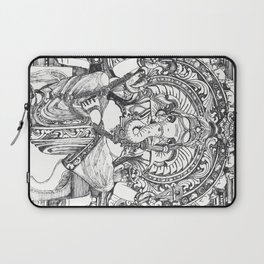 Genish black and white line drawing Laptop Sleeve